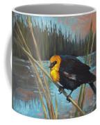 Yellow Headed Black Bird Coffee Mug
