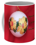 Yellow Hibiscus Christmas Bulb Coffee Mug