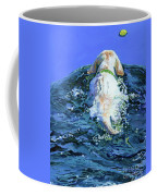 Yellow Lab  Blue Wake Coffee Mug by Molly Poole