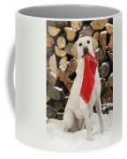 Yellow Labrador With Stocking Coffee Mug