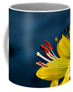 Yellow Lily Stamens Coffee Mug by Robert Bales