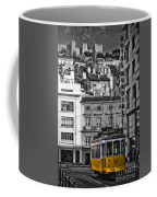 Yellow Lisbon Trolley Coffee Mug