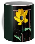 Yellow Metal Garden Flower Coffee Mug