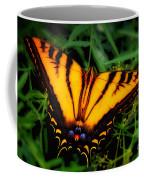 Yellow Orange Tiger Swallowtail Butterfly Coffee Mug
