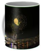 Yellow Burst Over Cincinnati Coffee Mug