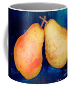 Yellow Pears On Blue Number Two Coffee Mug