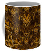 Yellow Pop Art Hearts Coffee Mug
