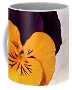 Yellow Purple Pansy Coffee Mug