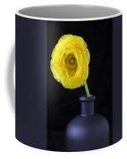 Yellow Ranunculus In Black Vase Coffee Mug