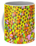Yellow Red Green Blue Digital Flower Mesh Coffee Mug
