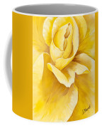 Yellow Rose Close Up Coffee Mug