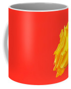 Yellow Rose On Red Coffee Mug