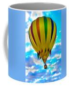 Yellow Striped Hot Air Balloon Coffee Mug