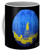 Yellow Submarine Baseball Square Coffee Mug
