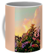 Yellow Sunrise And Flowers - Vertical Coffee Mug