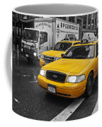 Yellow Taxi Color Pop Coffee Mug
