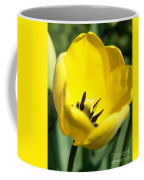 Yellow Tulip Cup Coffee Mug