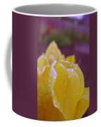Yellow Tulip Dappled With Rain Coffee Mug