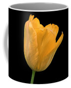 Yellow Tulip Open On Black Coffee Mug