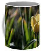 Yellow Tulip With Dew Coffee Mug