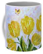Yellow Tulips And Butterfly Coffee Mug