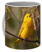 Yellow Warbler Singing Coffee Mug