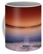 Yellowstone Lake And Geyser Coffee Mug