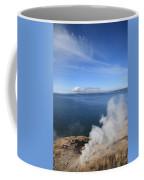 Yellowstone Lake And Geysers Coffee Mug