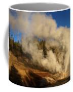 Yellowstone Riverside Eruption Coffee Mug