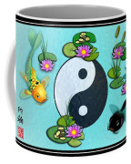 Yin Yang Koi Pond Scenery Coffee Mug