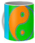 Yin Yang Orange Green Pop Art Coffee Mug