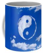 Yin-yang Symbol Made Of Clouds Coffee Mug