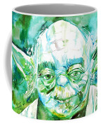 Yoda Watercolor Portrait Coffee Mug