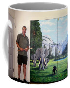 Yosemite Dreams Mural On Doors Coffee Mug