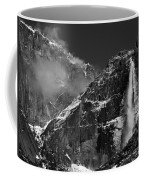 Yosemite Falls In Black And White Coffee Mug