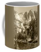 Yosemite Falls Sepia Coffee Mug