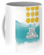 You Are My Sunshine- Abstract Mod Art Coffee Mug