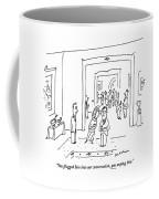 You Plugged Him Into Our Conversation Coffee Mug