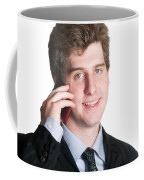 Young Business Man On The Cell Phone Coffee Mug