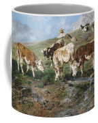 Young Cattle In Tyrol Coffee Mug
