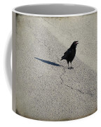 Young Cawing Crow Coffee Mug