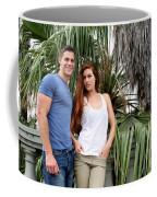 Young Couple Palm Tree Coffee Mug