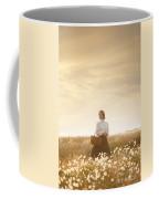 Young Edwardian Woman In A Meadow Coffee Mug