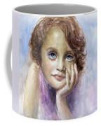Young Girl Child Watercolor Portrait  Coffee Mug by Svetlana Novikova
