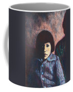 Young Girl In Blue Sweater Coffee Mug