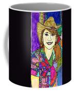 Young Girl With Cowboy Hat Coffee Mug