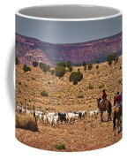 Young Goat Herders Coffee Mug by Priscilla Burgers