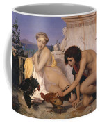 Young Greeks Attending A Cock Fight Coffee Mug