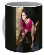 Young Hispanic Woman In Creek Coffee Mug