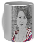 Young Lady With Multicolored Shawl Coffee Mug